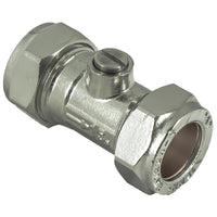 22mm Compression Chrome Isolation Valves - Plumbing and Heating Supplies UK