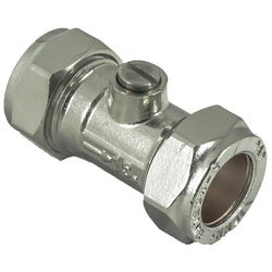 15mm Compression Chrome Isolation Valves - Plumbing and Heating Supplies UK