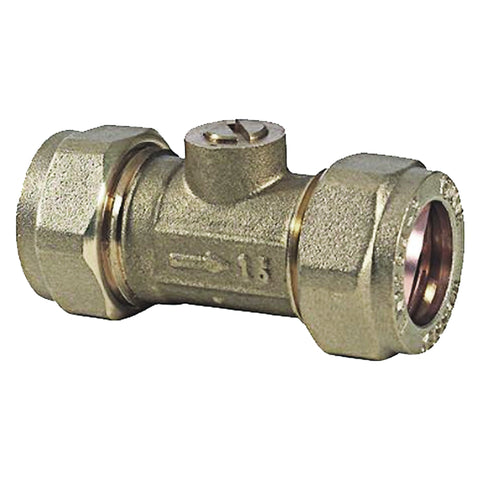 15mm Compression Brass Isolation Valves - Plumbing and Heating Supplies UK