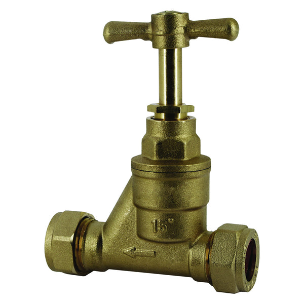 15mm Compression Stopcock Valves / Stop Taps - Plumbing and Heating Supplies UK