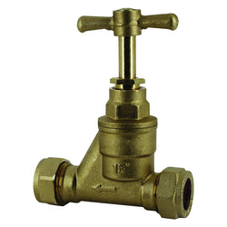 25mm x 25mm Compression MDPE Alkathene Water Main Stopcock / Stop Tap Straight and Reducing - Plumbing and Heating Supplies UK