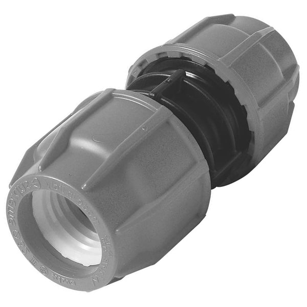 MDPE Alkathene Premium Plast Straight Coupling - 20mm and 25mm - Plumbing and Heating Supplies UK