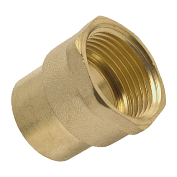 "3/4"" x 22mm Endfeed Female Iron - Straight - Plumbing and Heating Supplies UK"