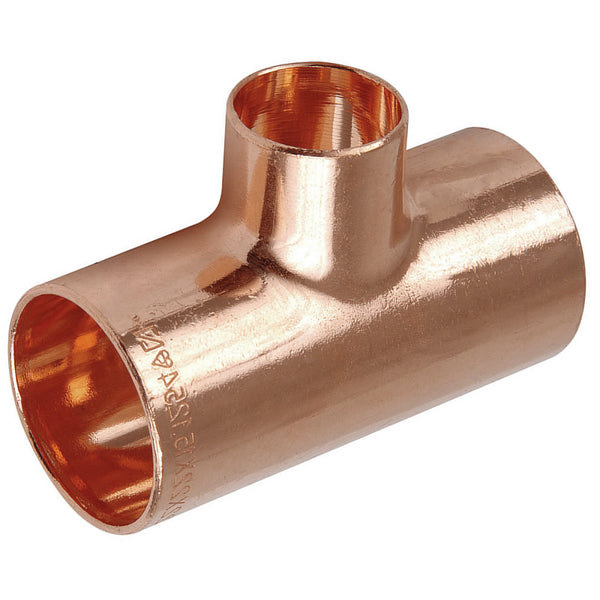 28mm x 28mm x 15mm Endfeed Reducing Tee - Plumbing and Heating Supplies UK