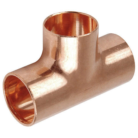 54mm Endfeed Tee Piece - Plumbing and Heating Supplies UK
