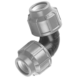 MDPE Alkathene Premium Plast 90 Degree Elbow - 20mm and 25mm - Plumbing and Heating Supplies UK