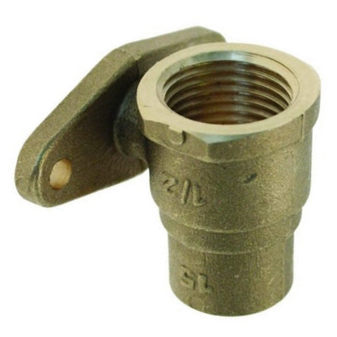 "1/2"" x 15mm Endfeed Straight Backplate - Plumbing and Heating Supplies UK"