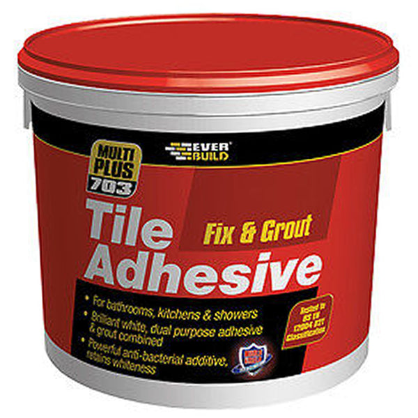 Everbuild Fix & Grout Tile Adhesive - 1.5kg - Plumbing and Heating Supplies UK