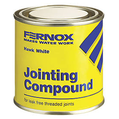 Fernox Hawk White Jointing Compound - Various Size Tubs - Plumbing and Heating Supplies UK