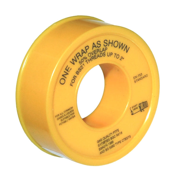 Gas PTFE Tape - Plumbing and Heating Supplies UK
