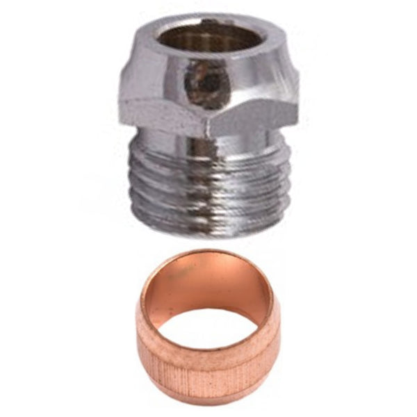 Restrictor Elbow Nut and Olive Kit - Plumbing and Heating Supplies UK