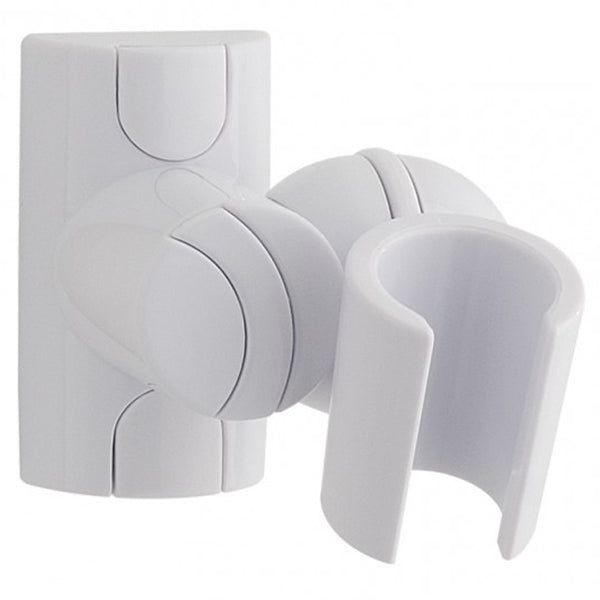 MX Shower Head Holder Adjustable Fixed Wall Bracket - White - Plumbing and Heating Supplies UK