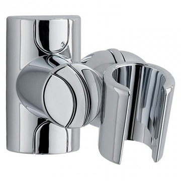 MX Shower Head Holder Adjustable Fixed Wall Bracket - Chrome