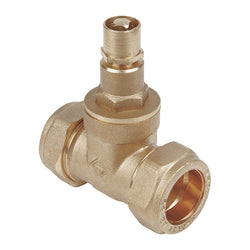 15mm Compression Lockshield Gate Valves - Anti Vandal