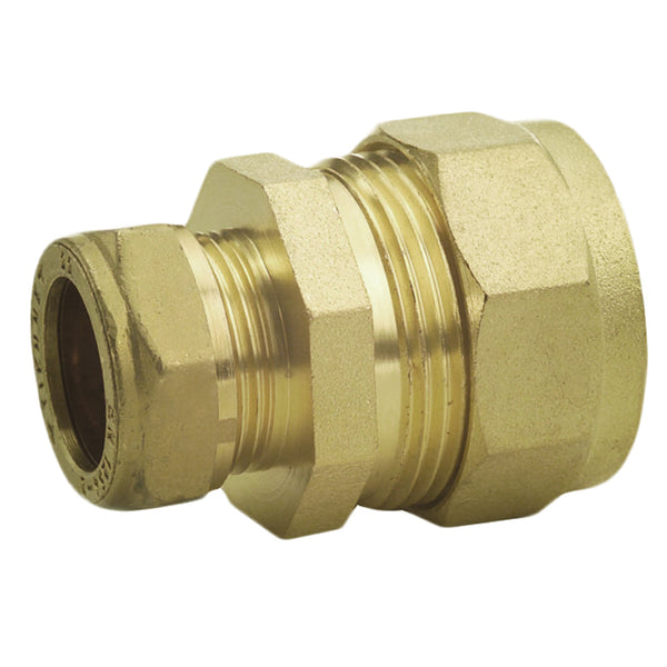 "7lb Lead Lock 1/2"" x 15mm Compression Lead to Copper Straight Coupler - Plumbing and Heating Supplies UK"