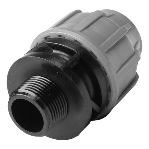 MDPE Alkathene Premium Plast Male Iron Straight Coupling - Various Sizes - Plumbing and Heating Supplies UK