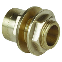 "3/4"" x 22mm Copper Push Fit Straight Tank Connector - Plumbing and Heating Supplies UK"