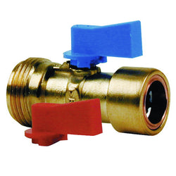 "3/4"" x 15mm Copper Push Fit Straight Washing Machine Valve - Plumbing and Heating Supplies UK"