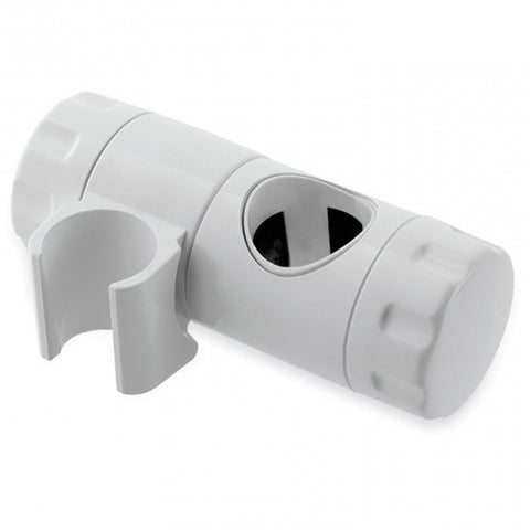 MX 25mm Adjustable Height Riser Rail Shower Head Holder - White - Plumbing and Heating Supplies UK