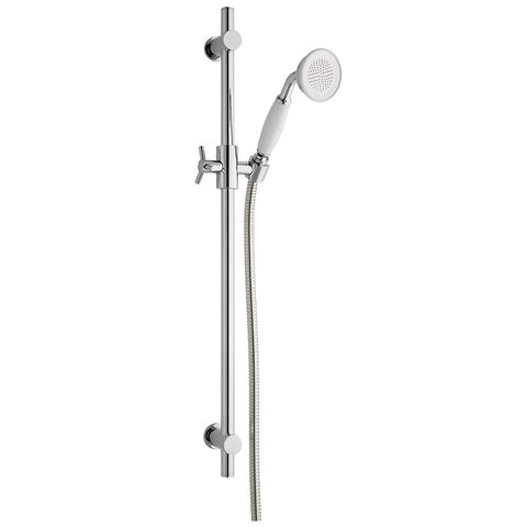 MX Traditional Single Mode Shower Kit - White/Chrome - Plumbing and Heating Supplies UK
