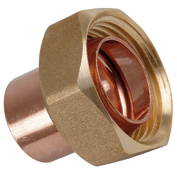 "3/4"" x 22mm Endfeed Straight Cylinder Union"