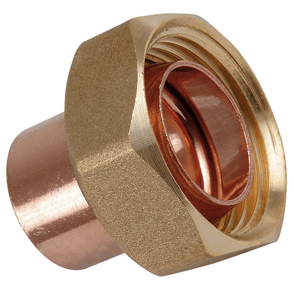 "3/4"" x 22mm Endfeed Straight Cylinder Union - Plumbing and Heating Supplies UK"