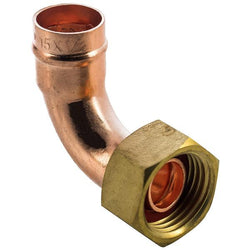 "1/2"" x 15mm Solder Ring Bent Tap Connector - Plumbing and Heating Supplies UK"