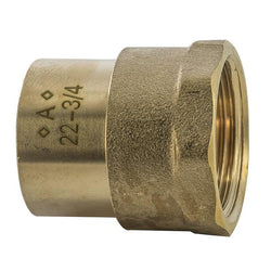 "3/4"" x 22mm Solder Ring Female Iron Straight Connector - Plumbing and Heating Supplies UK"