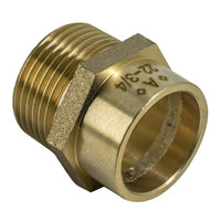 3/4 x 22mm Solder Ring Male Iron Straight Connector - Plumbing and Heating Supplies UK
