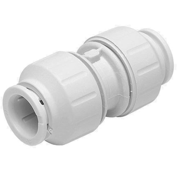 John Guest Speedfit 15mm Straight Coupler PEM0415W - Plumbing and Heating Supplies UK