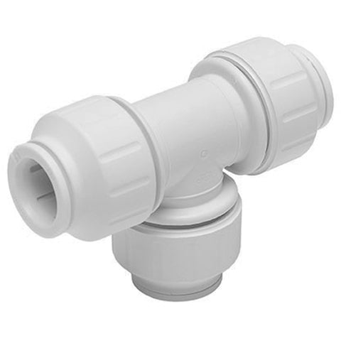 John Guest Speedfit 22mm Equal Tee PEM0222W - Plumbing and Heating Supplies UK