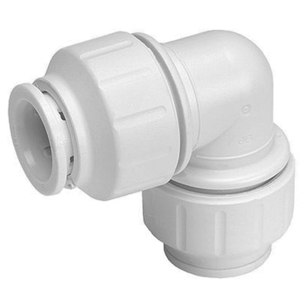 John Guest Speedfit 10mm Equal 90 Degree Elbow PEM0310W - Plumbing and Heating Supplies UK
