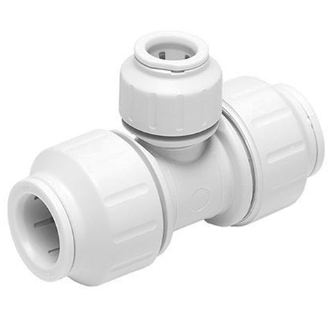 John Guest Speedfit 22 x 22 x 15mm Tee PEM3022AW - Plumbing and Heating Supplies UK