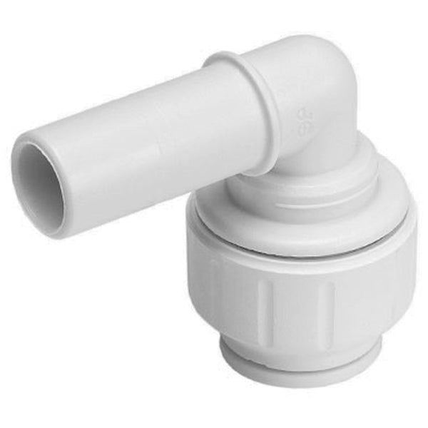 John Guest Speedfit 22mm Stem Elbow 90 Degree PEM222222W - Plumbing and Heating Supplies UK