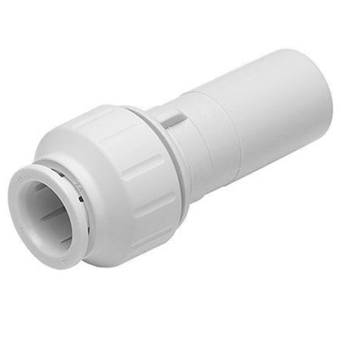 John Guest Speedfit 15 x 10mm Stem Reducer Straight PEM061510W - Plumbing and Heating Supplies UK