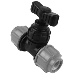 MDPE Alkathene Premium Plast Stop Tap - 20mm and 25mm - Plumbing and Heating Supplies UK