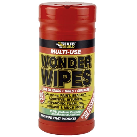Everbuild Wonder Wipes - 100 Wipes - Plumbing and Heating Supplies UK