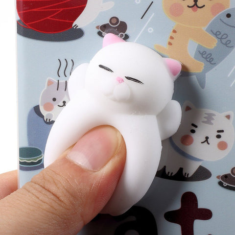 Stress Relieve Shell - 3D Cat Squishy Phone Case for IPhone