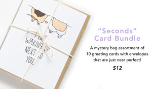 Seconds Mystery Bag 10 cards for $12
