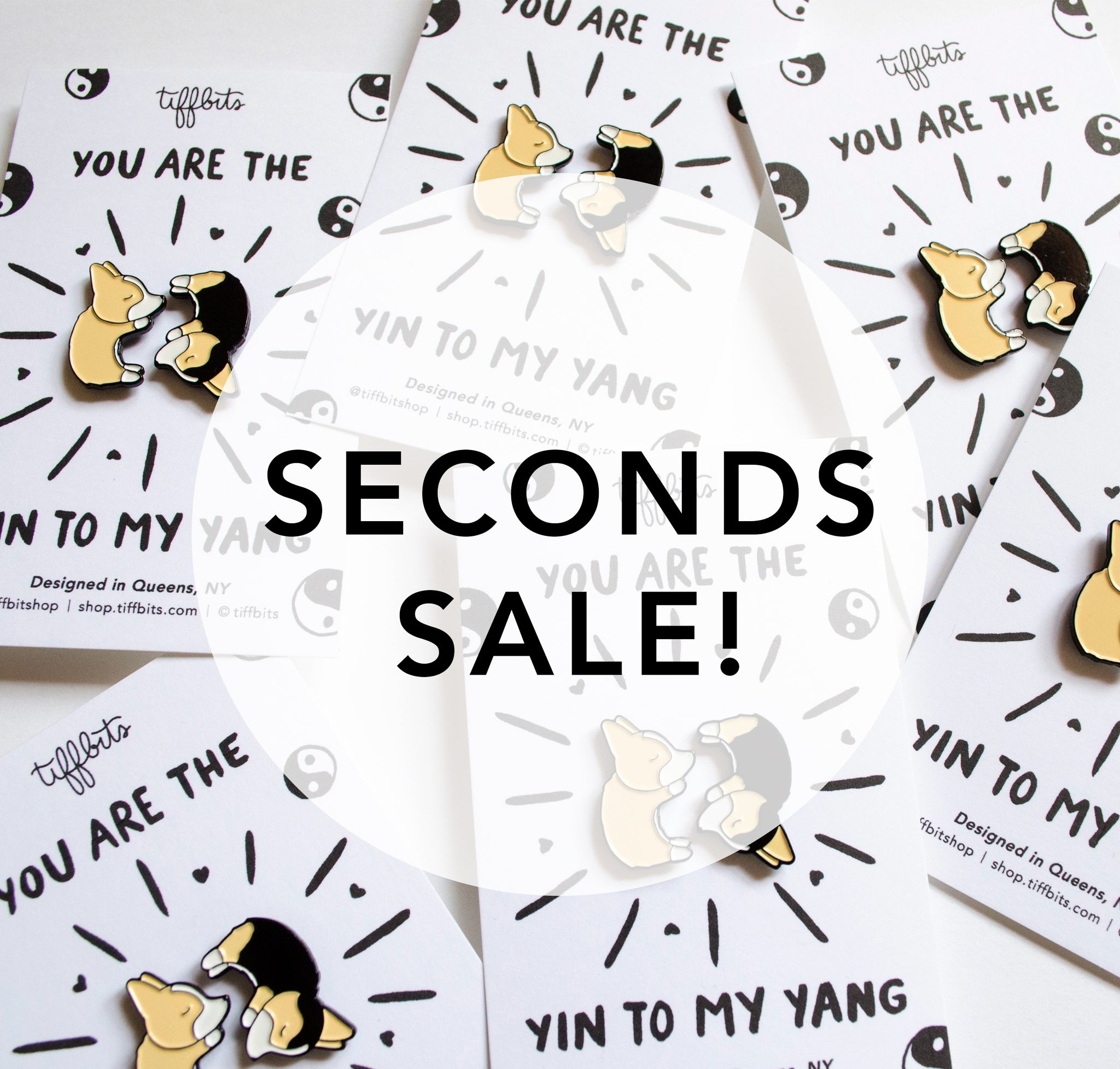 SECONDS Yin Yang Corgis Pin Set
