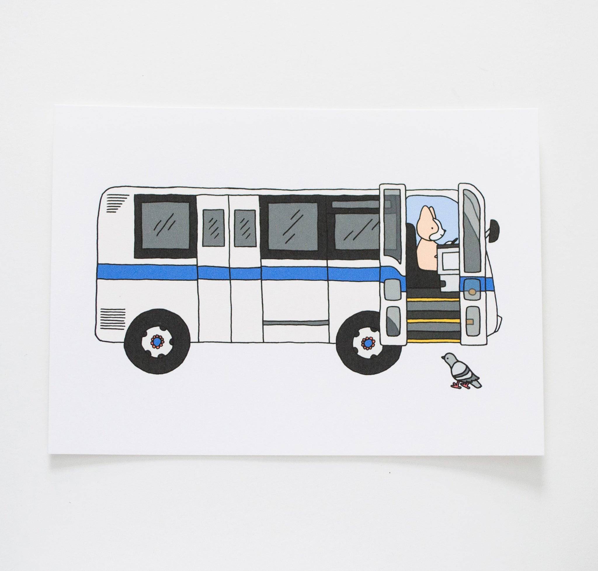 "NYC Bus 5x7"" Print, New York City"