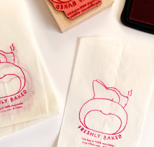 Corgi Loaf Bakery Glassine Bags