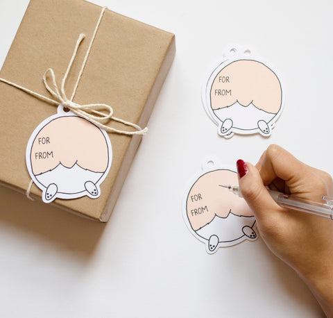 Corgi Butt Gift Tags