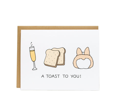 Toasts Congrats Graduation Card