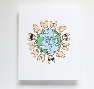 Corgis Holding Hands Earth