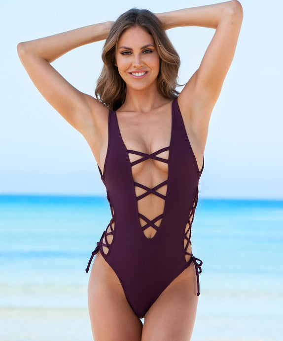 Swimsuit Julia Aubergine