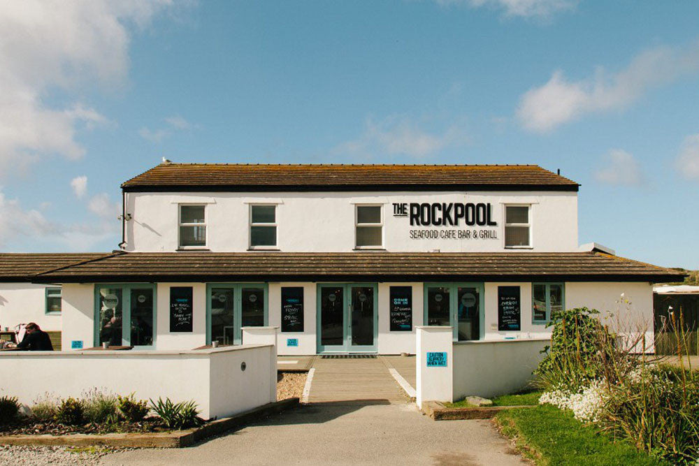 The Rockpool Beach Cafe, Godrevy, Cornwall. Laurie McCall photography exhibition
