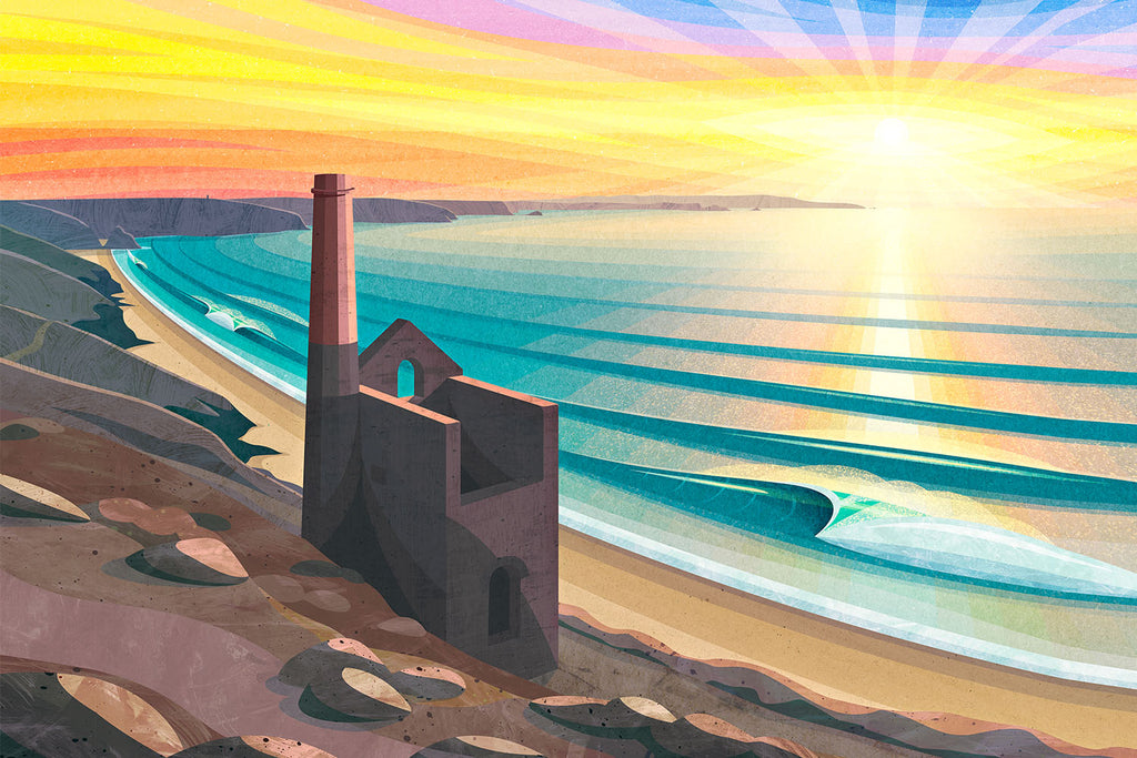 'Wheal Coates, Chapel Porth' print