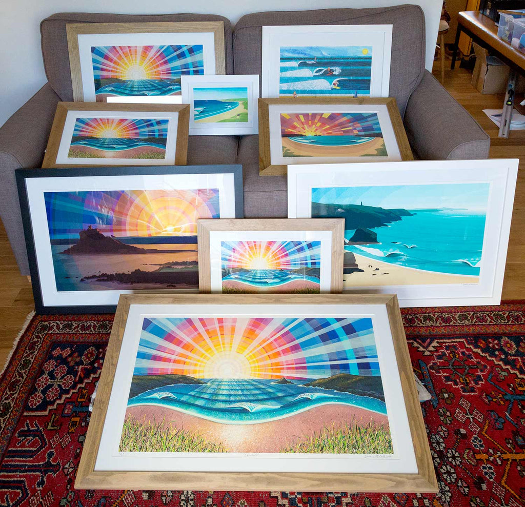 Laurie McCall Art Cornwall Framed Prints