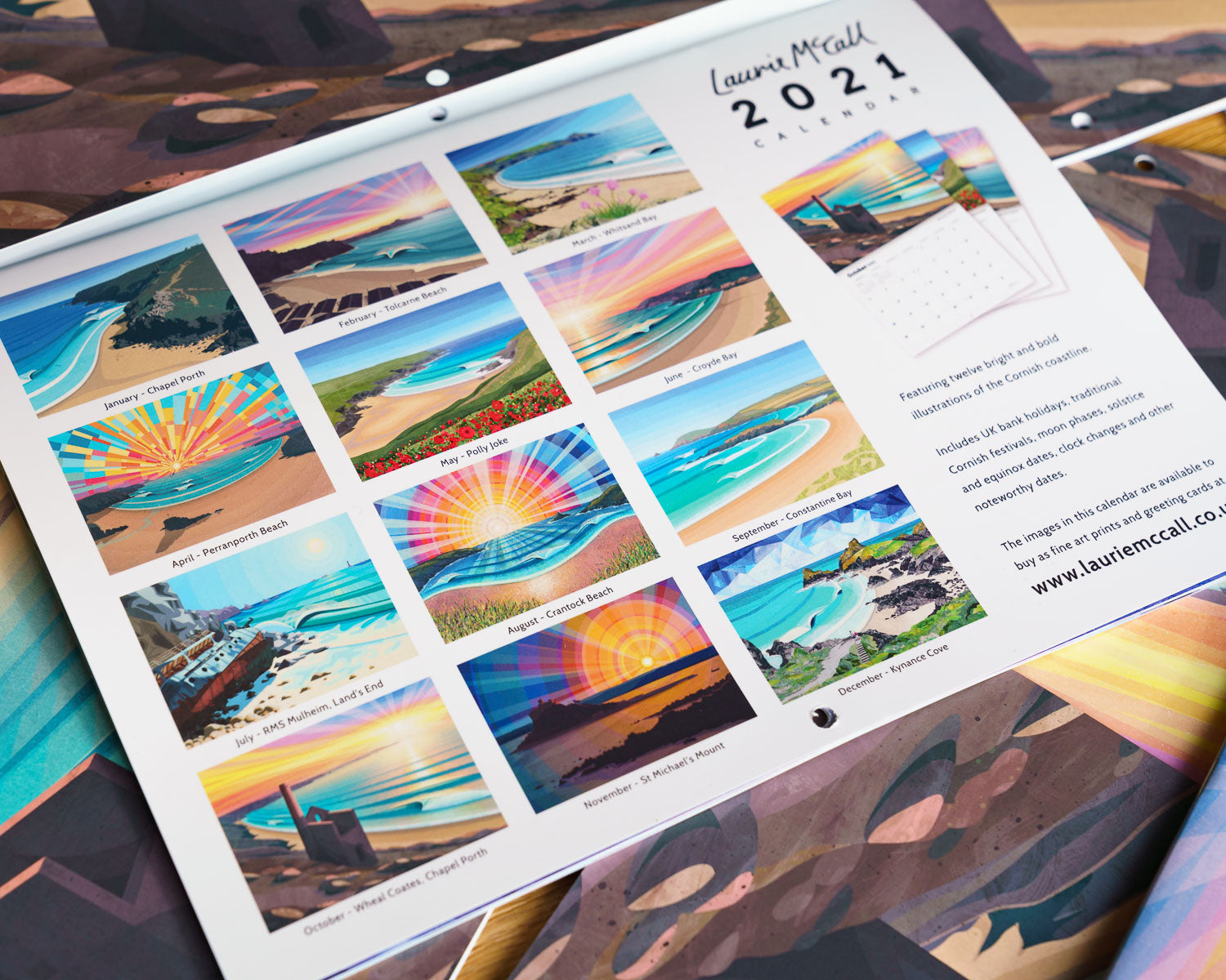 Laurie McCall Art 2021 calendar giveaway